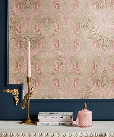 Nouveau Peacock Wallpaper