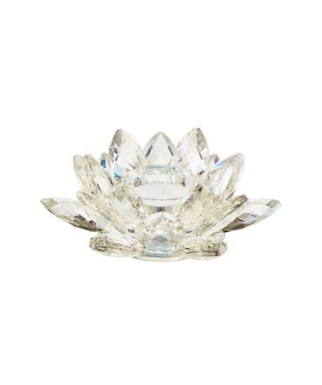 Sunkissed Glass Flower Tealight Holder