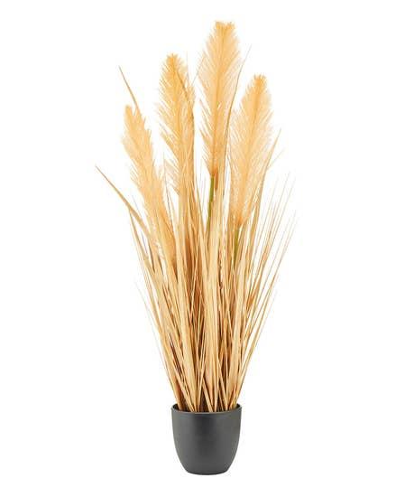Faux Pampas Grass In Pot
