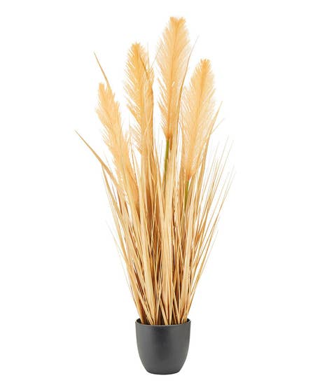 Faux Pampas Grass In Pot