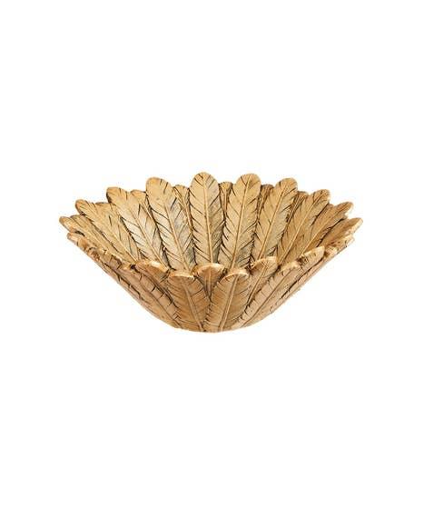 Gorgeous Gold Feather Bowl