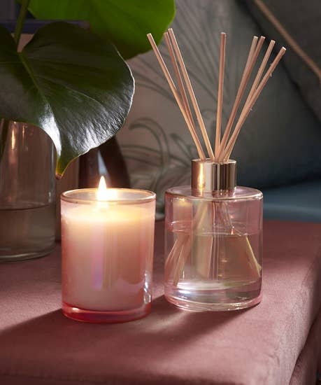 Blush Candle And Diffuser Set