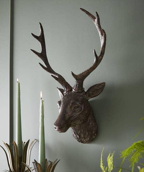 Bronze Stag Head Ornament