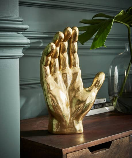 Giant Gold Hand Deco