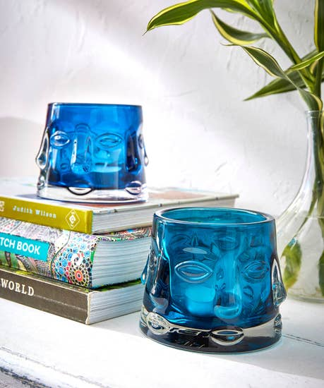 Teriffic Teal Face Tealight Candle