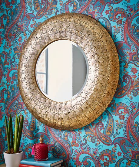 Magnificent Cutwork Gold Mirror