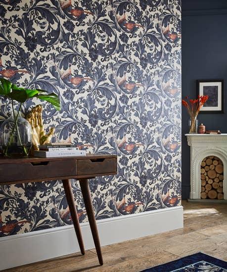 Fabulous Pheasant Baroque Wallpaper