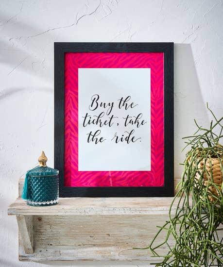 Joes Favourite Slogan Prints In Frame