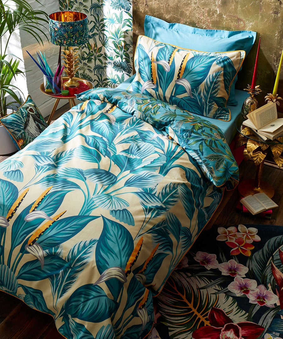 Tropical Leaf Duvet Set (SGL)