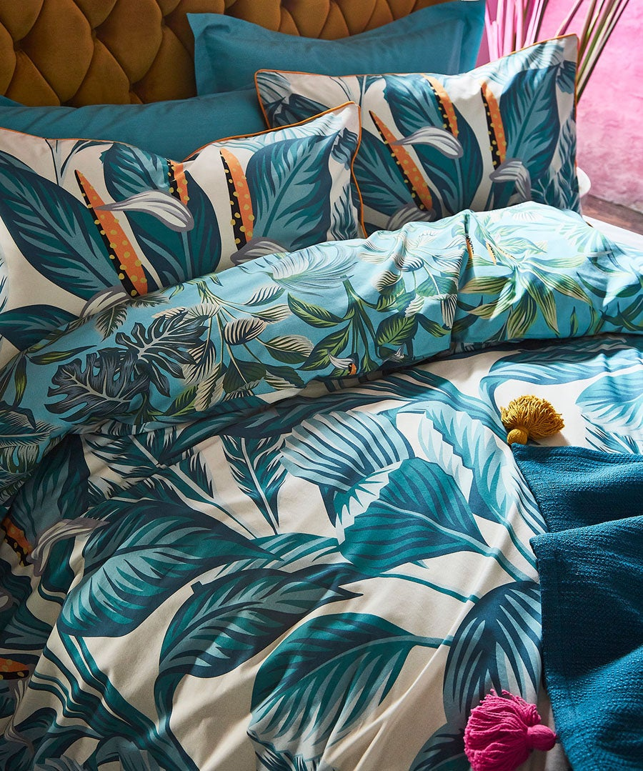 Tropical Leaf Duvet Set (DBL)