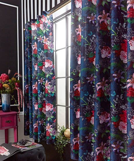 Flowerful Eyelet Curtains
