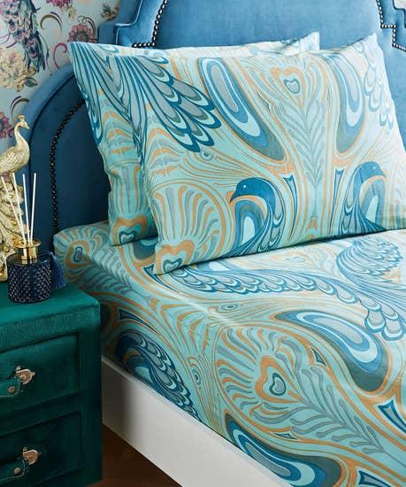 Nouveau Peacock Bedding