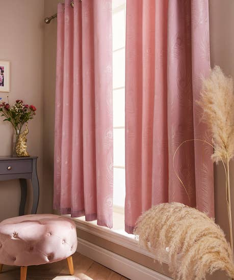 Luxury Jacquard Feather Curtains