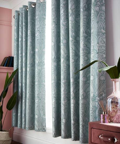 Luxuary Jacquard Iris Curtains