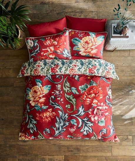 Baroque Floral Duvet Set