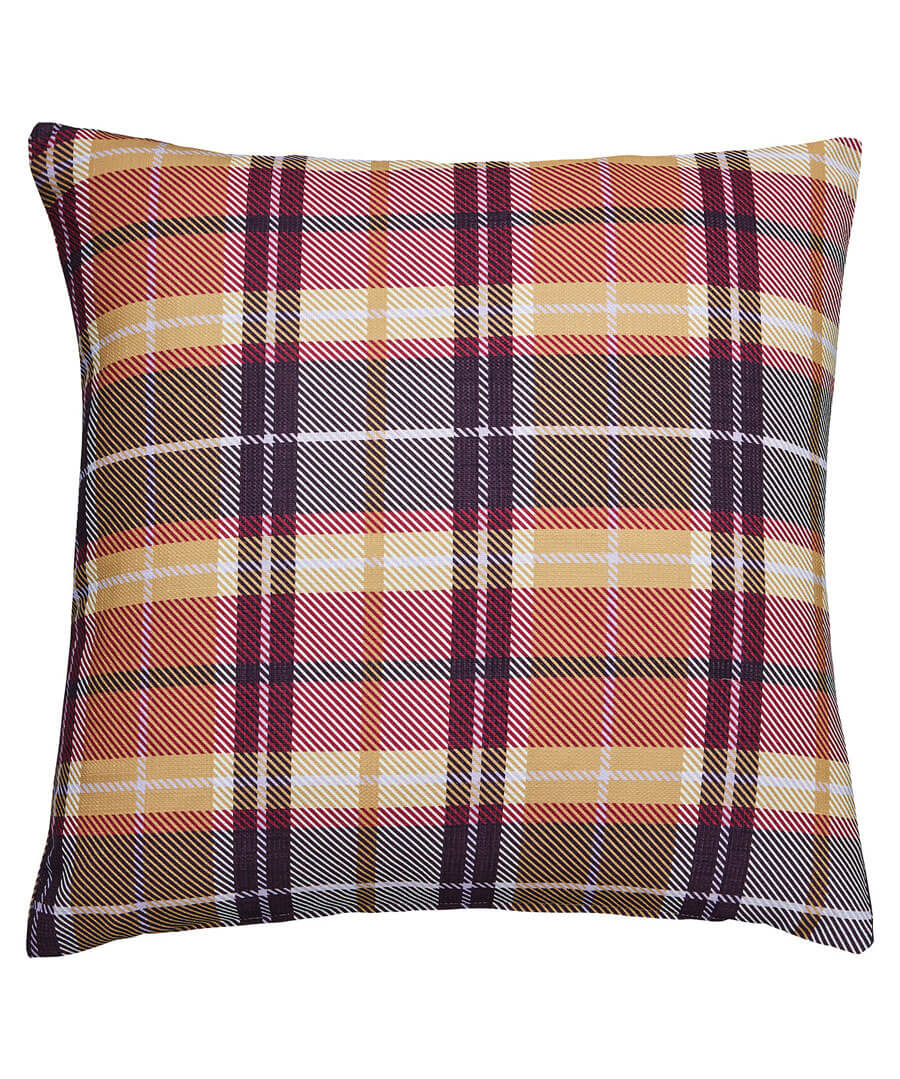 Check Print Oversized Cushion Model Front