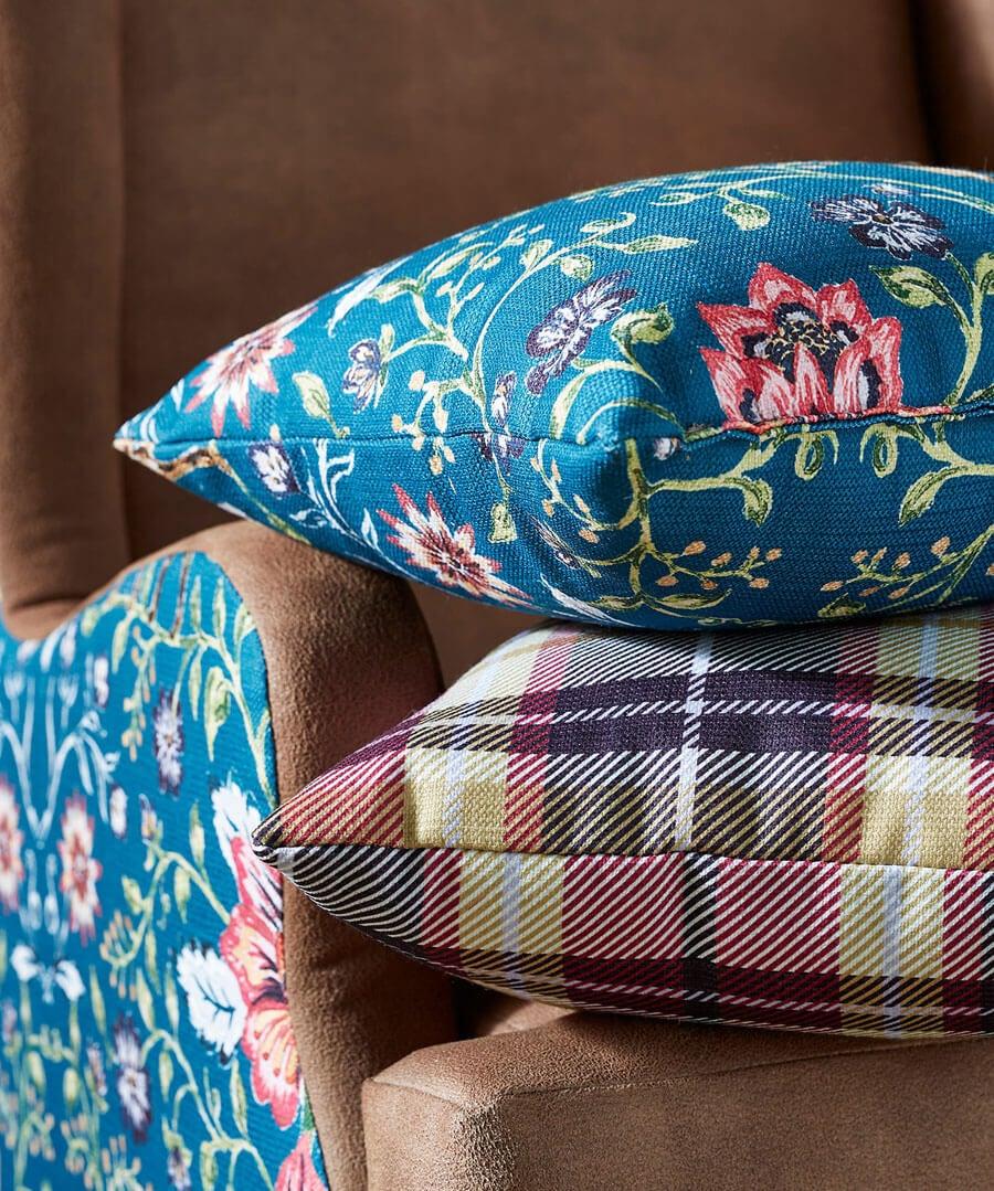 Check Print Oversized Cushion