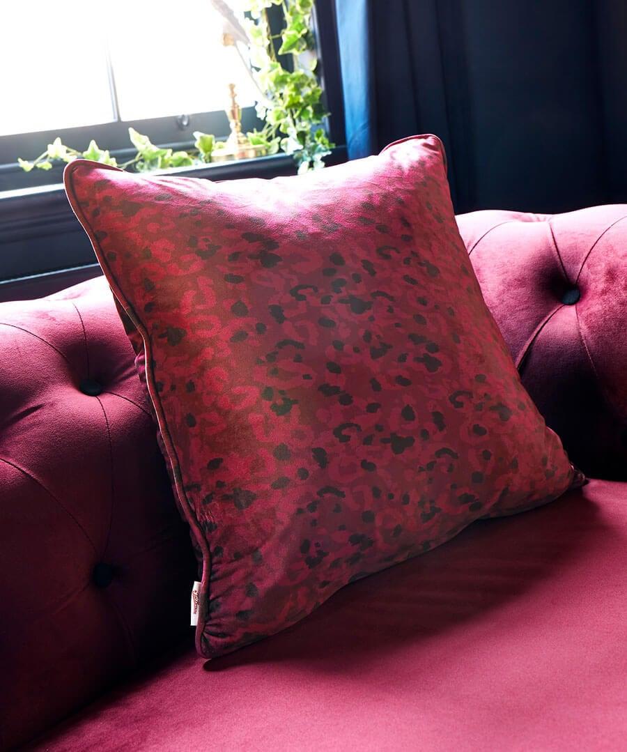 Elegant Leopard Print Cushion