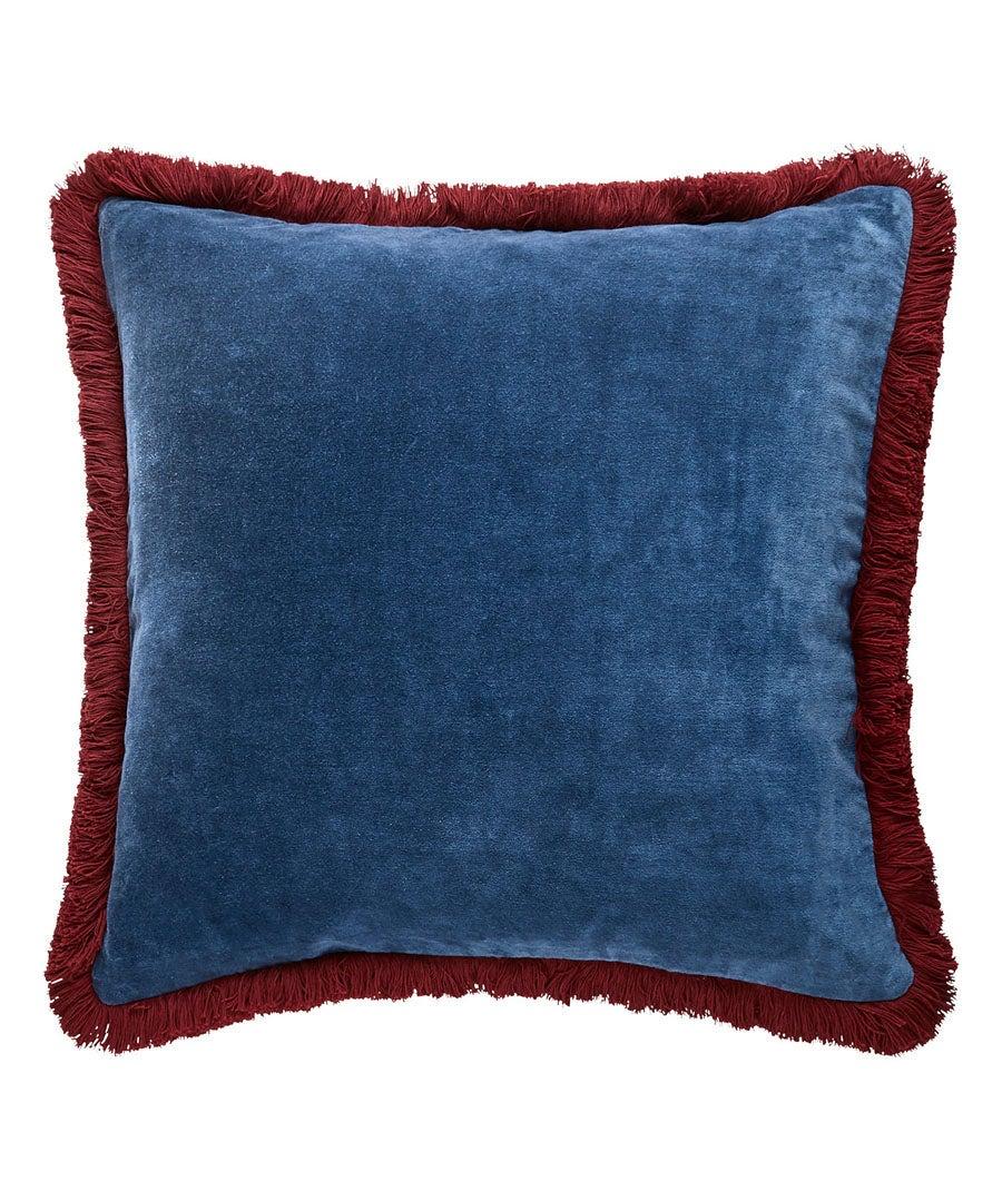 Vibrant Fringe Velvet Cushion