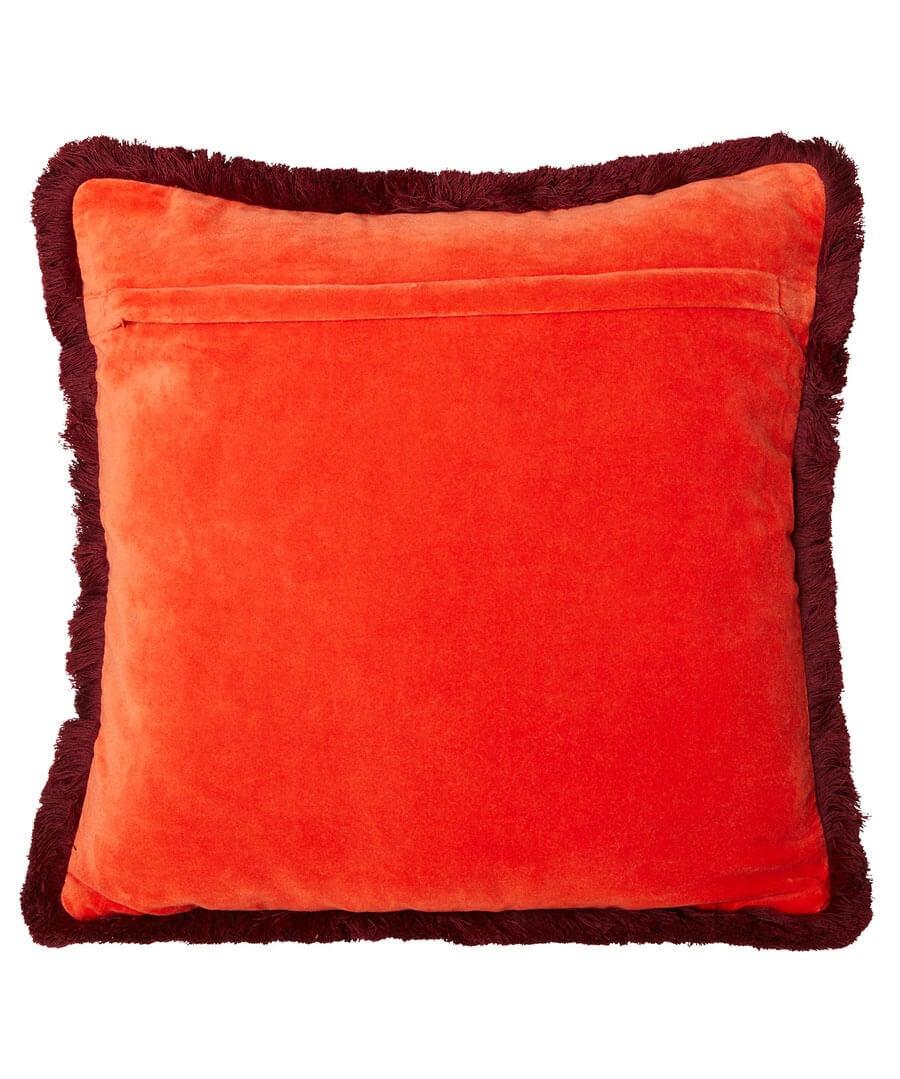 Vibrant Fringe Velvet Cushion Back