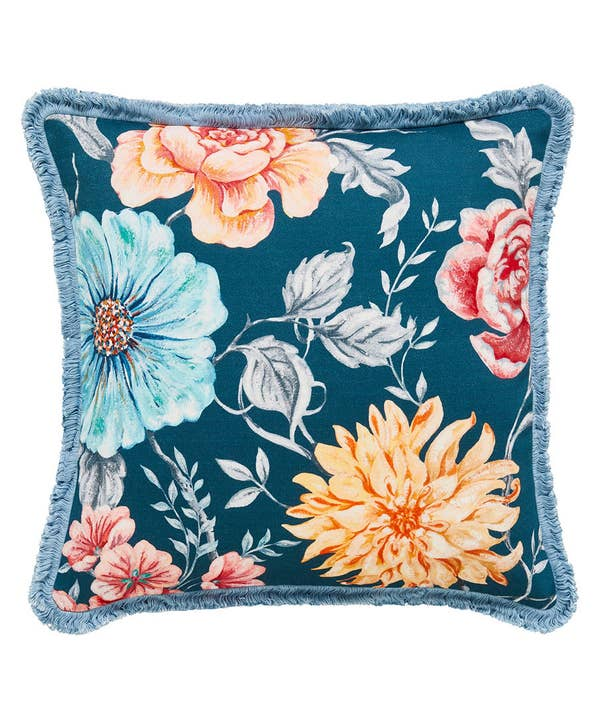 French Blossom Burst Cushion