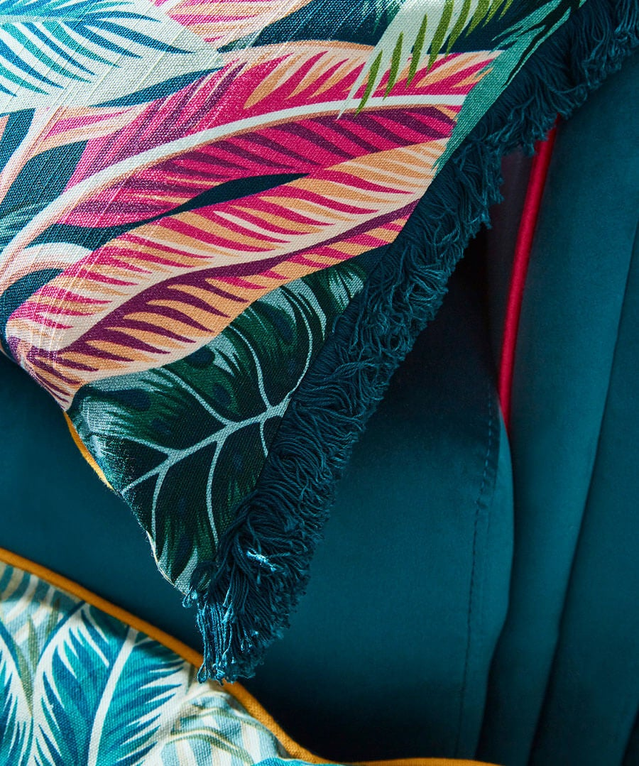 Toucan Fringe Cushion Back