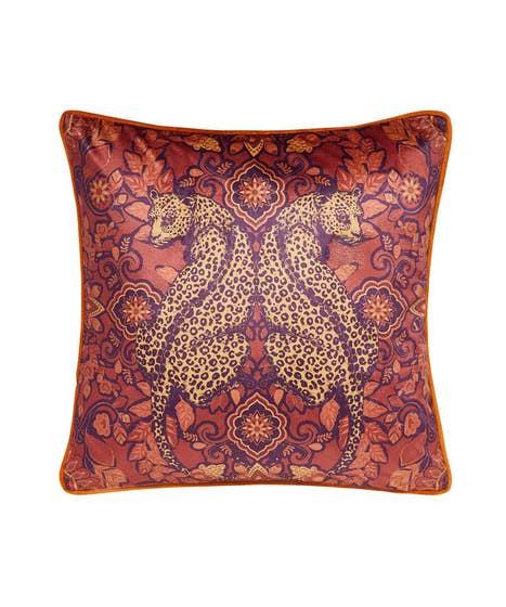 Reflective Leopard Cushion