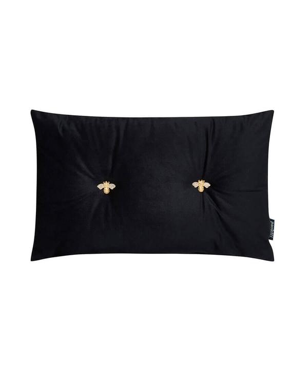 Bee Button Velvet Cushion