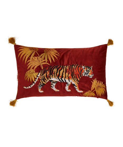 Terrific Tiger Embroidered Cushion