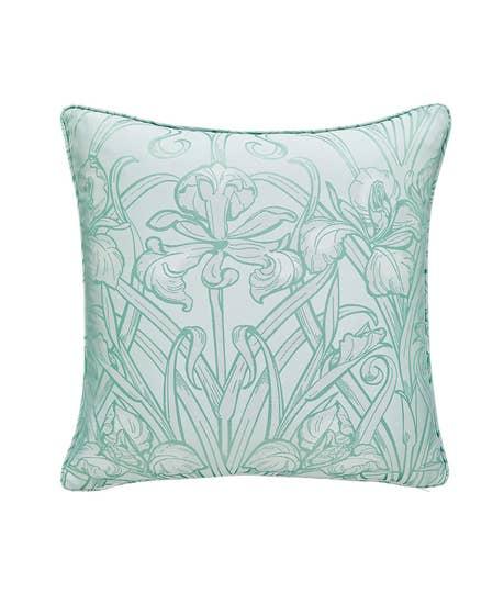 Luxury Jacquard Iris Cushion