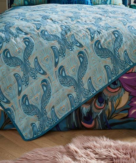 Nouveau Peacock Bedspread