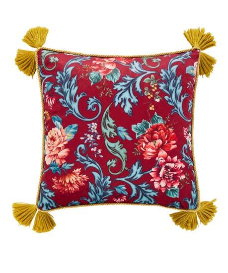 Baroque Floral Tassel Cushion