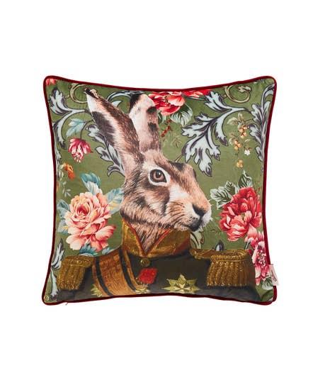 Flora Hare Reversible Cushion