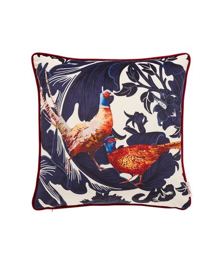 Pheasant Baroque Cushion