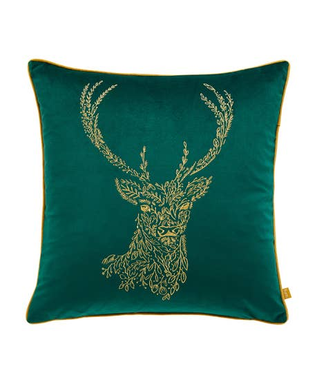 Glorious Gold Stag Cushion
