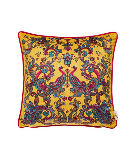 Perfectly Placed Peacock Revesrible Cushion