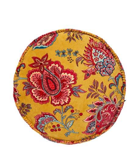 Bold Floral Round Cushion