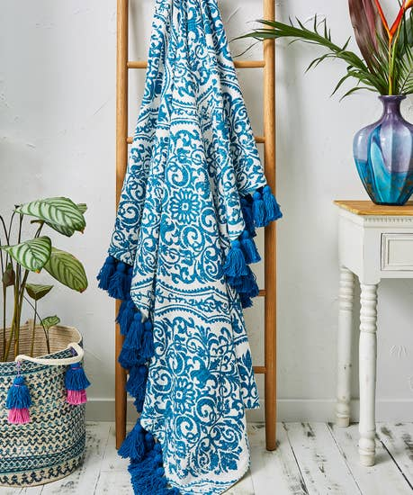 Perfectly Printed Cotton Throw