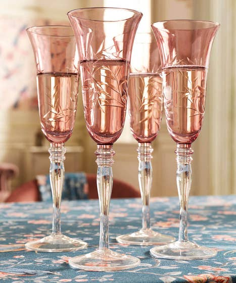 Set Of 4 Champagne Flutes