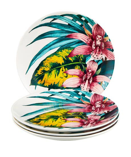 Truly Tropical Set Of 4 Side Plates