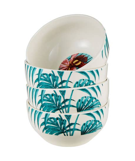 Truly Tropical Set Of 4 Bowls