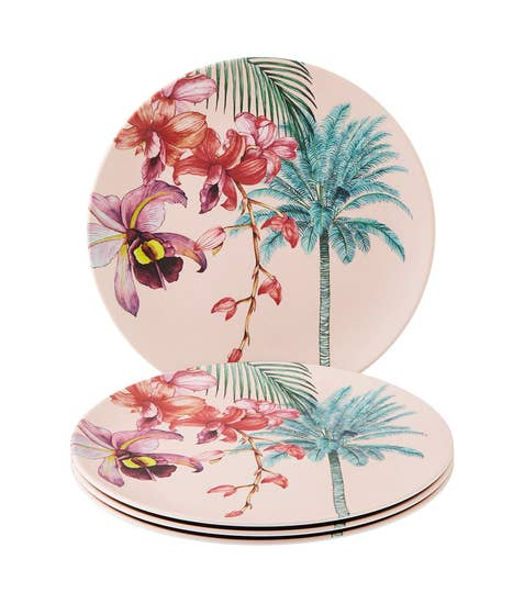 Perfect Picnic Set Of 4 Melamine Dinner Plates