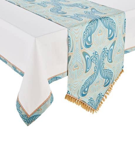 Nouveau Peacock Tablecloth