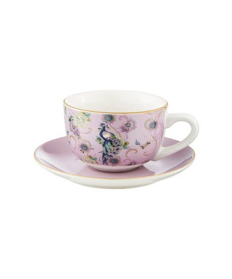 Fabulous Floral Set Of 4 Teacups And Saucers