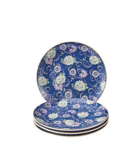 Fabulous Floral Set Of 4 Side Plates