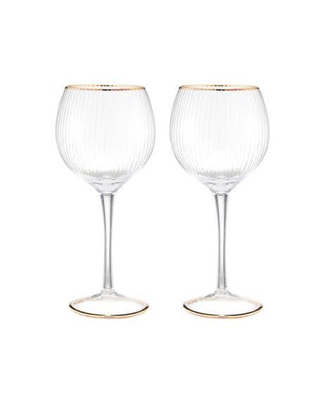 Set Of 2 Deco Gin Glasses