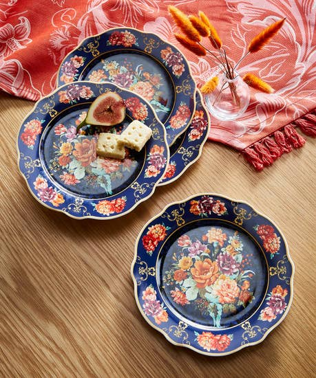 Beautiful Baroque Floral Side Plates