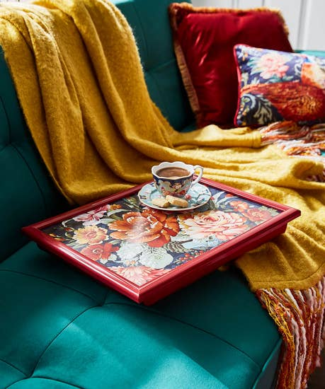 Statement Floral Lap Tray