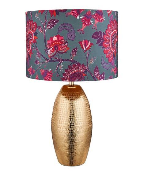 Metallic Hammered Table Lamp
