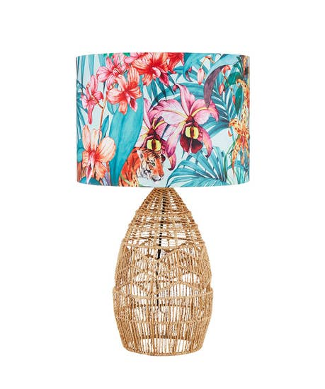 Truly Tropical Rattan Table Lamp